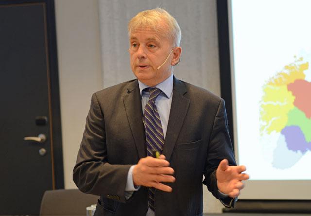 Knut Storberget er fylkesmann i Hedmark. Han åpnet Skogsymposium 2019 på Elverum.