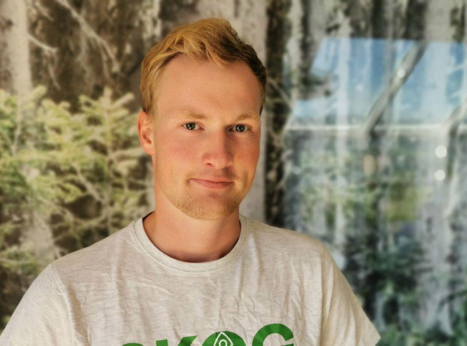 Nils Hidle Gedde fikk pris for beste bacheloroppgave. Foto: Silje Ludvigsen
